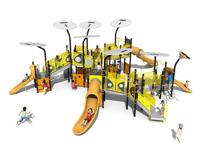 New Design Outdoor Plastic Playground KW-7418A