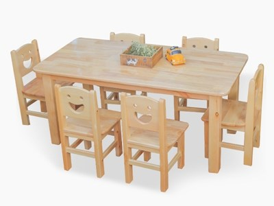 Kindergarten Wooden Table & Chair KW-5007A