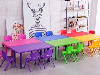 Plastic Table & Chair for Preschool  KW-5008A