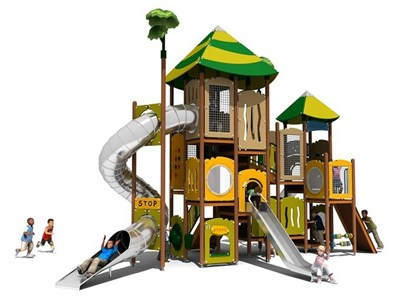 Primary Forest Outdoor Playground with Stainless Steel Tube KW-7406A