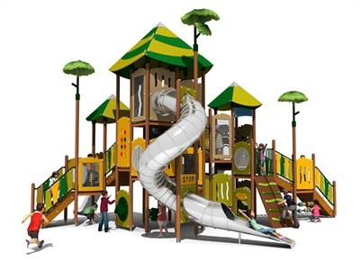 PE Playground with Stainless Steel Spiral Tube KW-7407A
